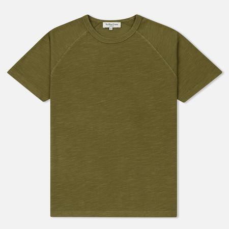 Мужская футболка YMC Television Raglan Pigment Dye Slub Jersey Olive