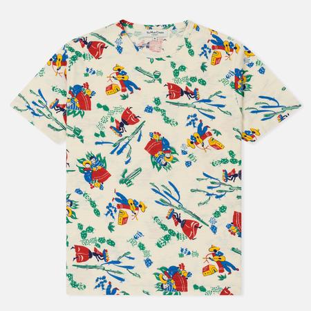 Мужская футболка YMC Tijuana Mexican Print Slub Ecru