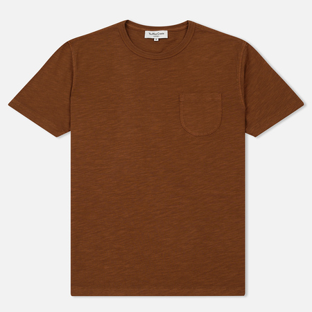 Мужская футболка YMC Wild Ones Pocket Garment Dyed Brown