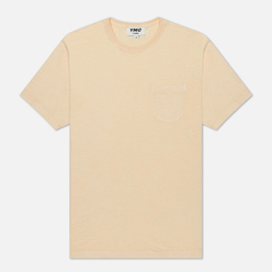 Мужская футболка YMC Wild Ones Pocket Garment Dyed Ecru