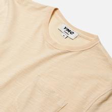Мужская футболка YMC Wild Ones Pocket Garment Dyed Ecru фото- 1