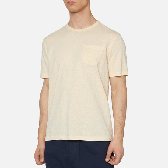 Мужская футболка YMC Wild Ones Pocket Garment Dyed Ecru