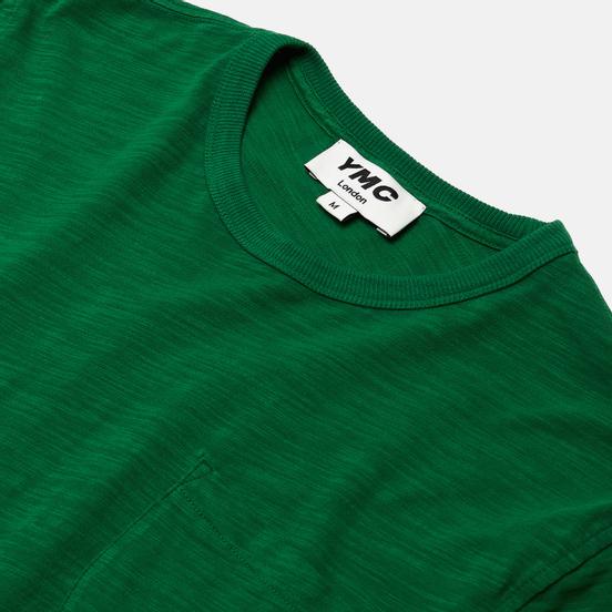 Мужская футболка YMC Wild Ones Pocket Garment Dyed Green