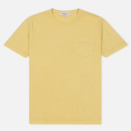 Мужская футболка YMC Wild Ones Pocket Garment Dyed Lemon