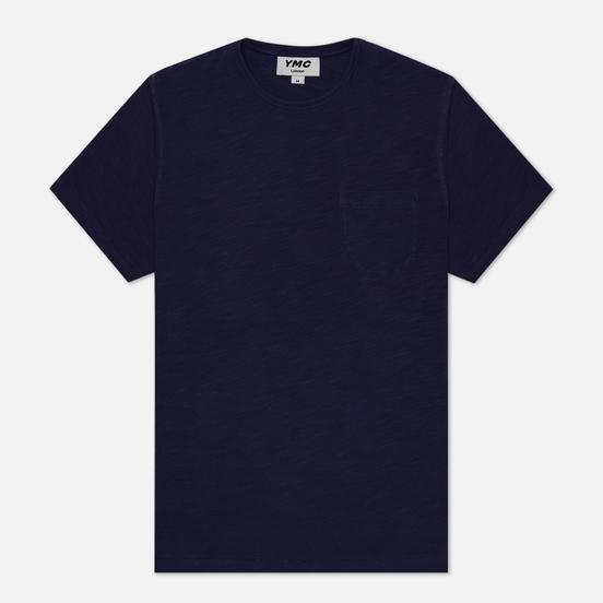 Мужская футболка YMC Wild Ones Pocket Garment Dyed Navy