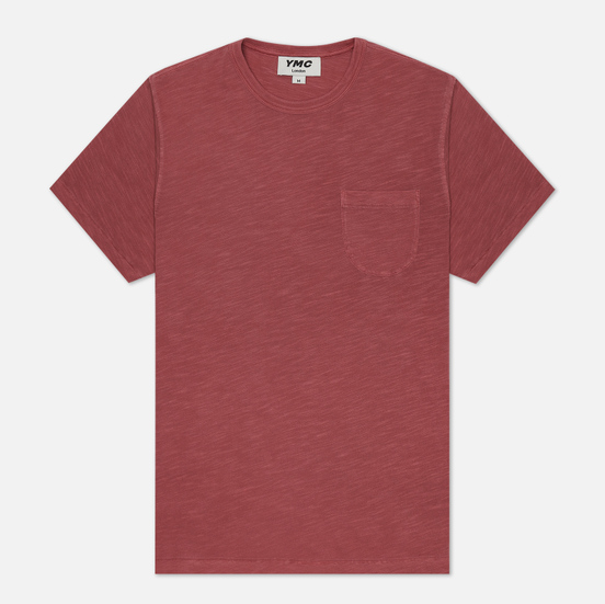 Мужская футболка YMC Wild Ones Pocket Garment Dyed Pink