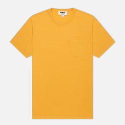 Мужская футболка YMC Wild Ones Pocket Garment Dyed Yellow