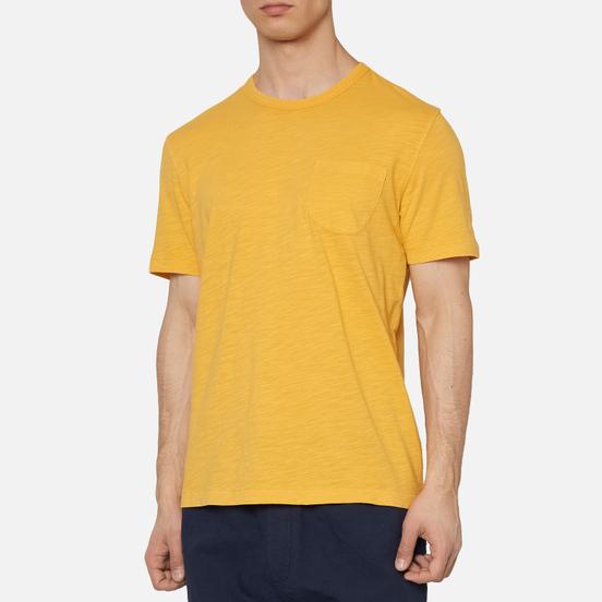 Мужская футболка YMC Wild Ones Pocket Garment Dyed Yellow