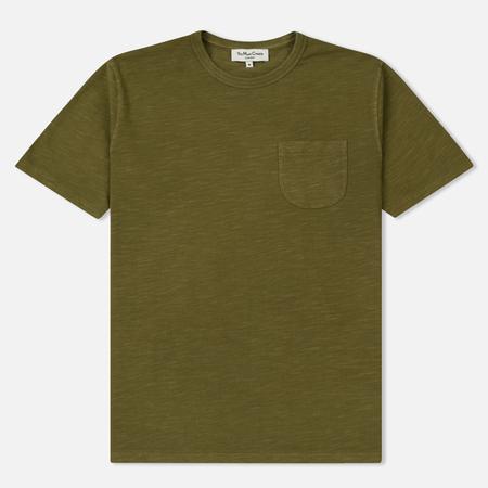 Мужская футболка YMC Wild Ones Pocket Pigment Dye Slub Jersey Olive
