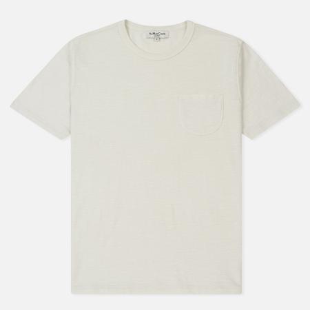 Мужская футболка YMC Wild Ones Pocket Pigment Dye Slub Jersey White