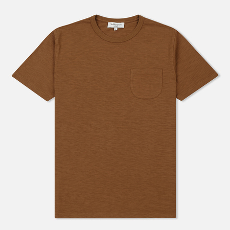 Мужская футболка YMC Wild Ones Pocket Slub Jersey Brown