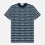 Мужская футболка YMC Wild Ones Stripe Indigo фото- 0