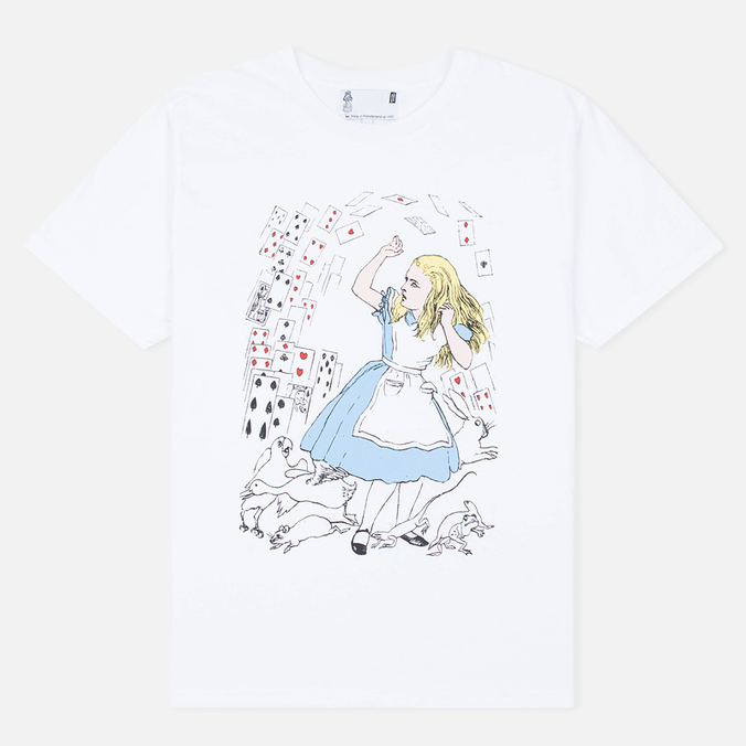 Мужская футболка YMC x British Library Alice in Wonderland Alice White