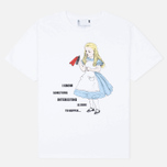 YMC x British Library Alice in Wonderland I Know Something Men's T-shirt White photo- 0