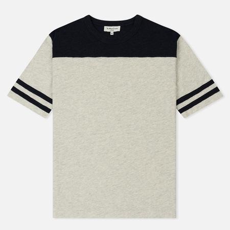 Мужская футболка YMC Zephyr Melange Slub Jersey Grey/Navy