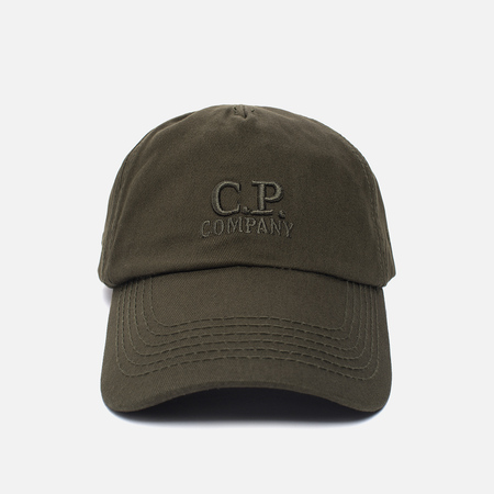 Мужская кепка C.P. Company Baseball Logo Moss