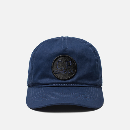 Мужская кепка C.P. Company Cotton Gabardine Goggle Logo Estate Blue