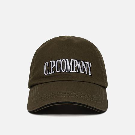 Мужская кепка C.P. Company Gabardine Baseball Dark Olive