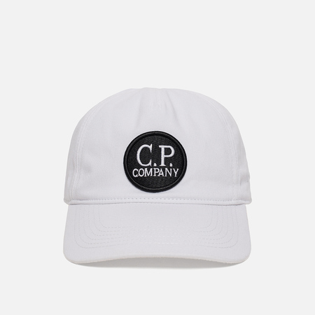 Мужская кепка C.P. Company Gabardine Baseball Goggle Tapioca White