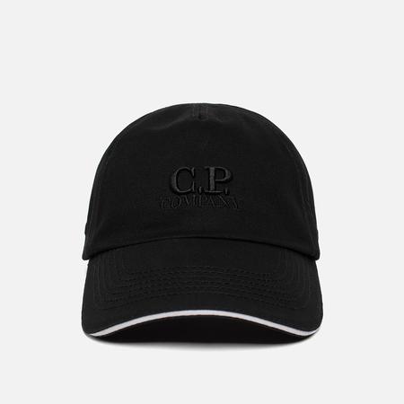 Мужская кепка C.P. Company Gabardine Baseball Logo Caviar Black