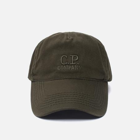 Мужская кепка C.P. Company Goggle Baseball Logo Moss