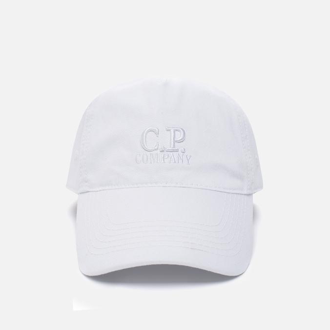 Мужская кепка C.P. Company Goggle Baseball Logo White
