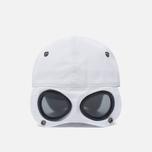 Мужская кепка C.P. Company Goggle Baseball Logo White фото- 4