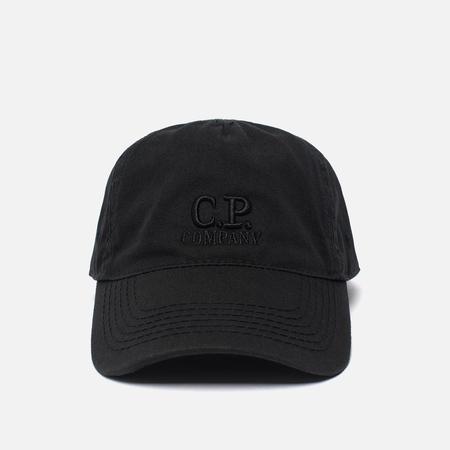 Мужская кепка C.P. Company Goggle Logo Caviar Black