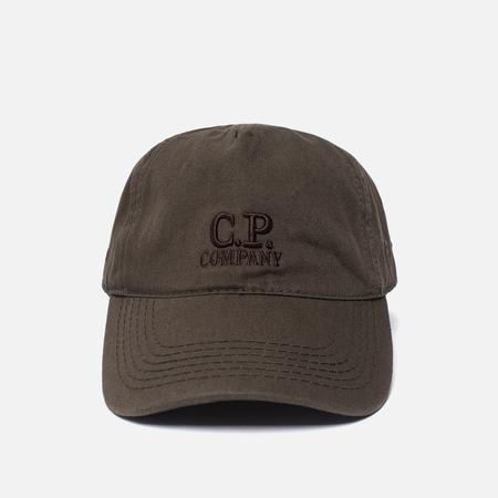 Мужская кепка C.P. Company Goggle Logo Dark Olive