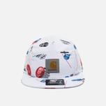 Мужская кепка Carhartt WIP Gray Starter History Print/White фото- 0