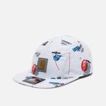 Мужская кепка Carhartt WIP Gray Starter History Print/White фото- 1