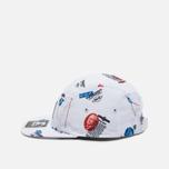 Мужская кепка Carhartt WIP Gray Starter History Print/White фото- 2