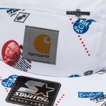 Мужская кепка Carhartt WIP Gray Starter History Print/White фото- 3
