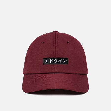 Мужская кепка Edwin 6 Panel Ball Compact Twill Bordeaux Rinsed