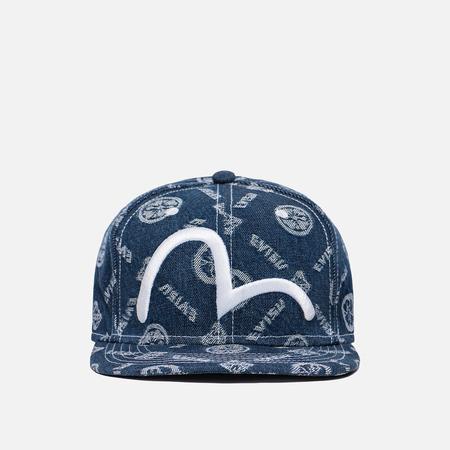 Мужская кепка Evisu Heritage Jacquard Denim Baseball Indigo
