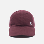 Мужская кепка Fred Perry Pique Classic Maroon фото- 0