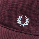 Мужская кепка Fred Perry Pique Classic Maroon фото- 3