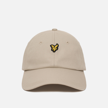 Мужская кепка Lyle & Scott Baseball Badge Logo Light Stone