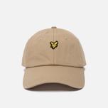 Мужская кепка Lyle & Scott Baseball Badge Logo Dark Sand фото- 0