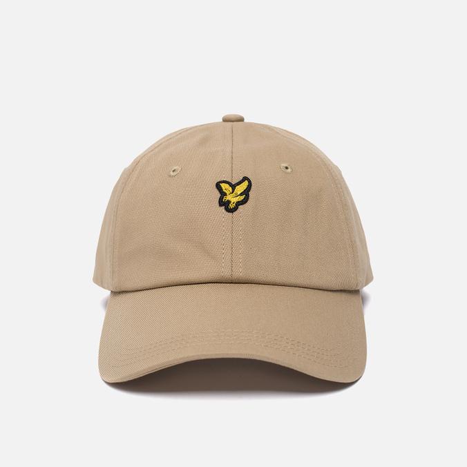 Мужская кепка Lyle & Scott Baseball Badge Logo Dark Sand