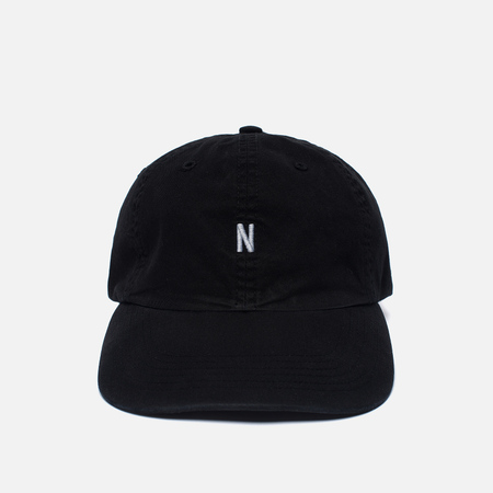 Мужская кепка Norse Projects Light Twill Sports Black