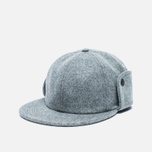 Мужская кепка Norse Projects Melton Earflap 6 Panel Mouse Grey фото- 1