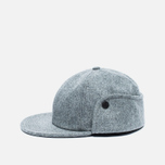 Мужская кепка Norse Projects Melton Earflap 6 Panel Mouse Grey фото- 2