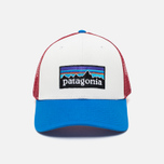 Мужская кепка Patagonia Trucker P-6 White/Andes Blue фото- 0