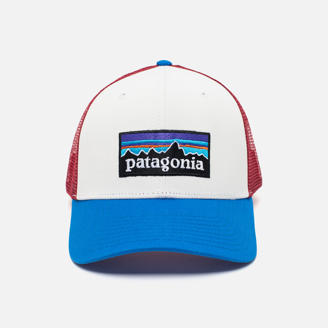 Мужская кепка Patagonia Trucker P-6 White/Andes Blue
