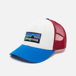 Мужская кепка Patagonia Trucker P-6 White/Andes Blue фото- 1
