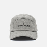 Мужская кепка Stone Island 5 Panel Reflective Logo Grey фото- 0