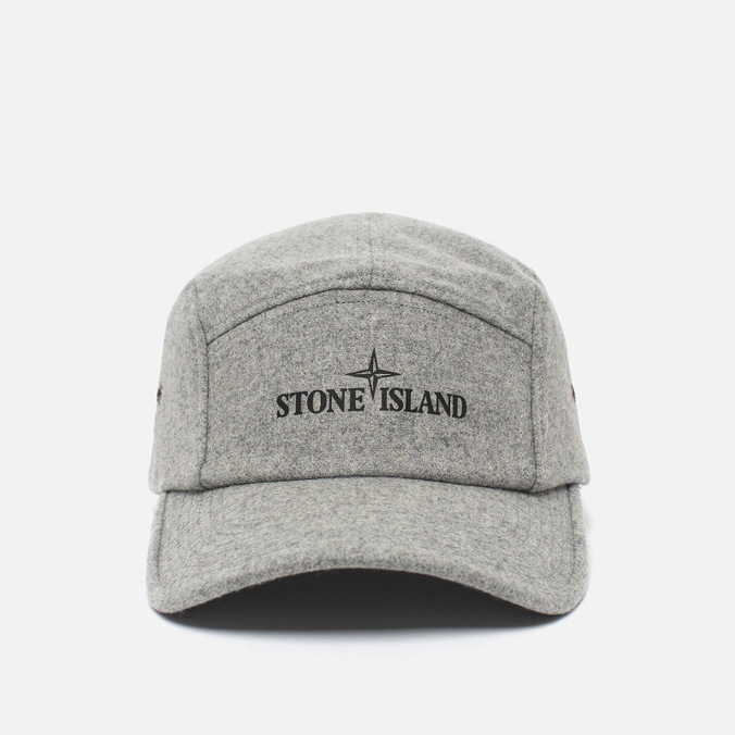 Мужская кепка Stone Island 5 Panel Reflective Logo Grey