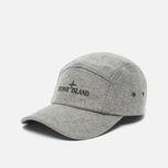 Мужская кепка Stone Island 5 Panel Reflective Logo Grey фото- 1