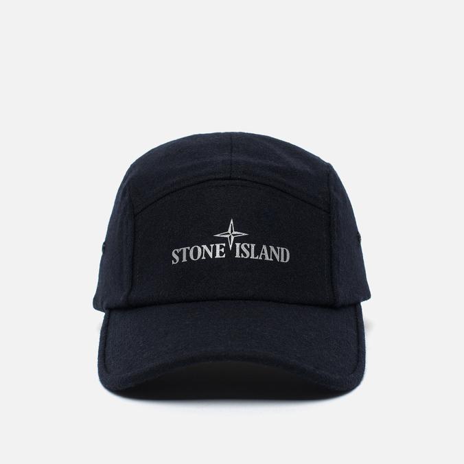 Мужская кепка Stone Island 5 Panel Reflective Logo Marine Blue